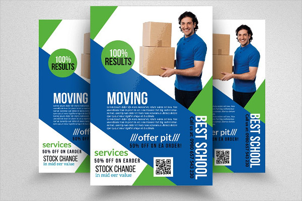 Moving House Support Services Flyers
