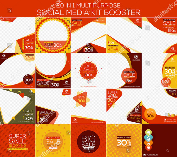 Multipurpose Social Media Kit Booster