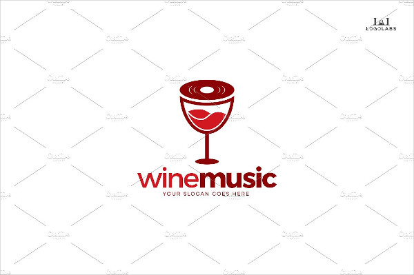 Music Wine Logo Template