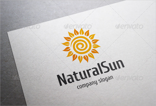 Natural Sun Travel Logo Template
