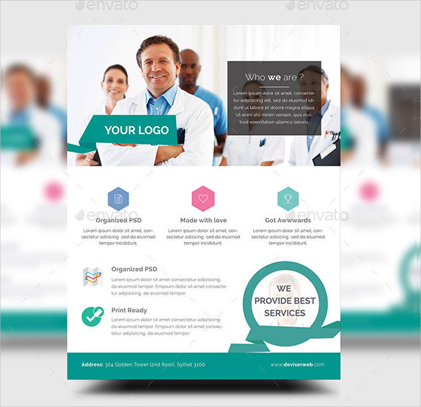 Cool Medical Flyer or Poster Template