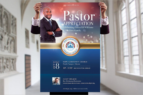 Best Pastor Appreciation Poster Template
