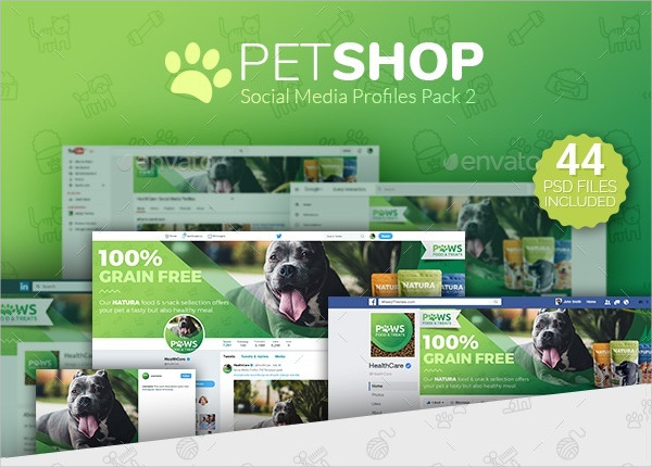 Pet Shop Social Media Cover Template