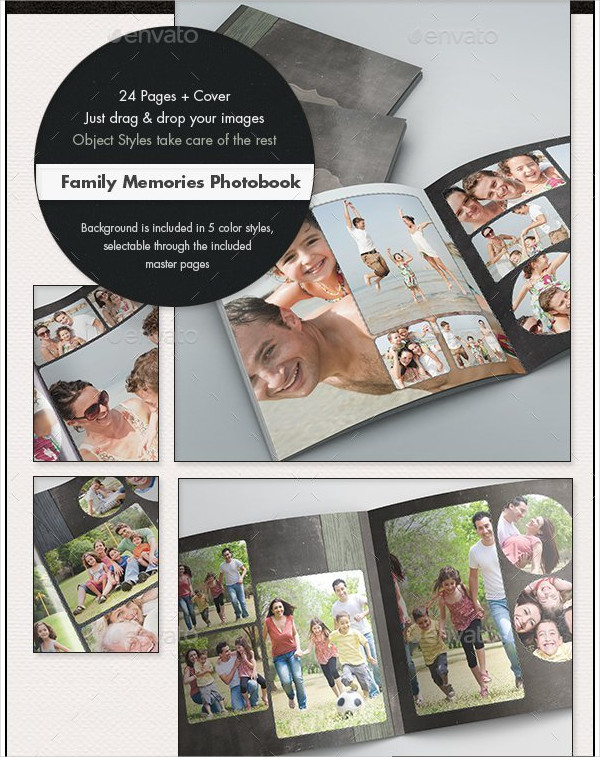 Photobook Family Memories Album Template