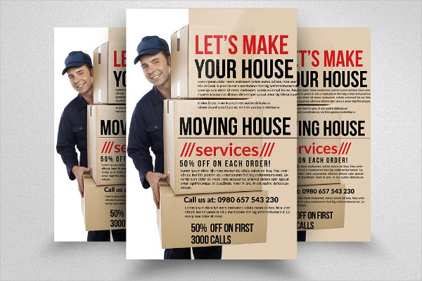 Creative Moving House Services Flyers Design