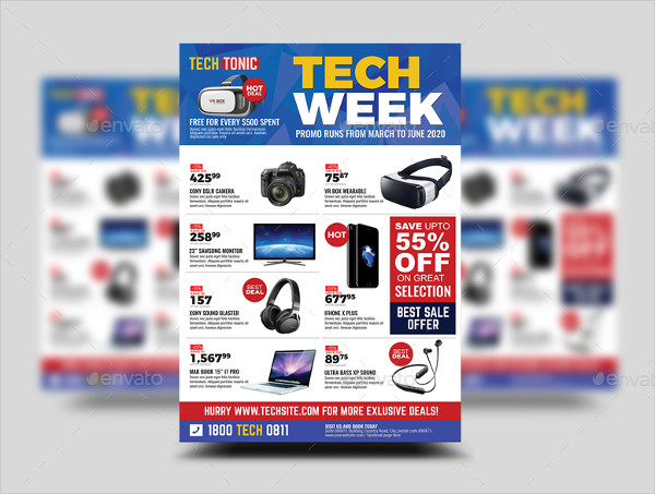 Print Ready Gadget Sale Promo Flyer
