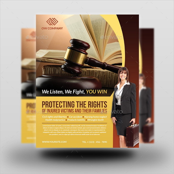 Print Ready Law Firm Flyer Template