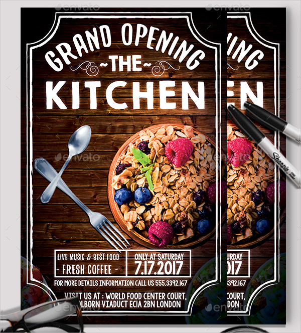 Print Ready Restaurant Grand Opening Flyer Template
