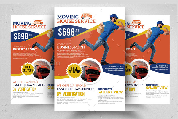 Professional Moving House Service Flyer Templates