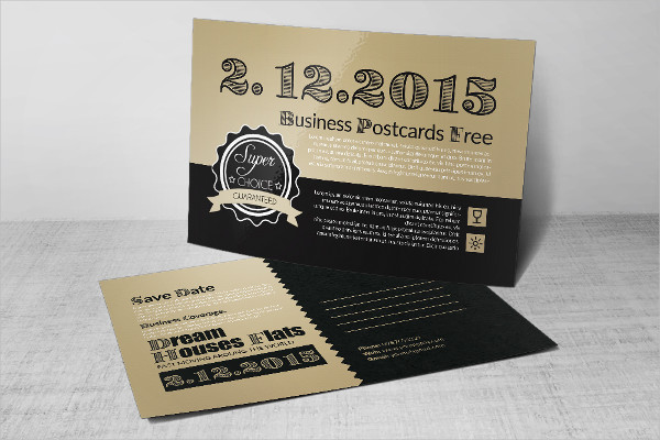 Professional Save The Date Wedding Postcards