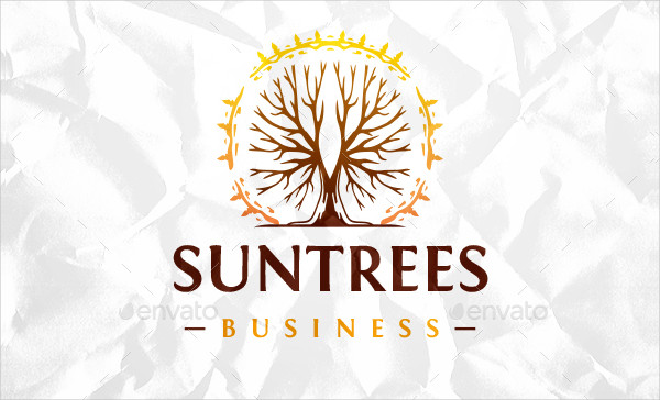 Professional Sun Trees Logo Design