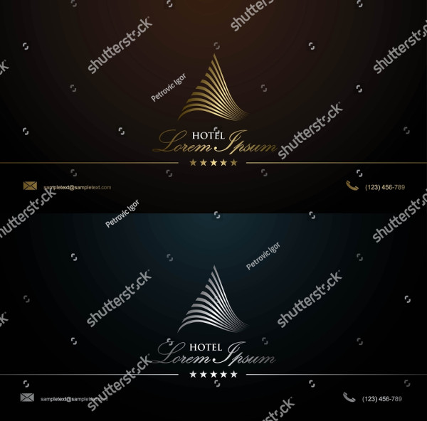 Royal Business Card Template for Hotel