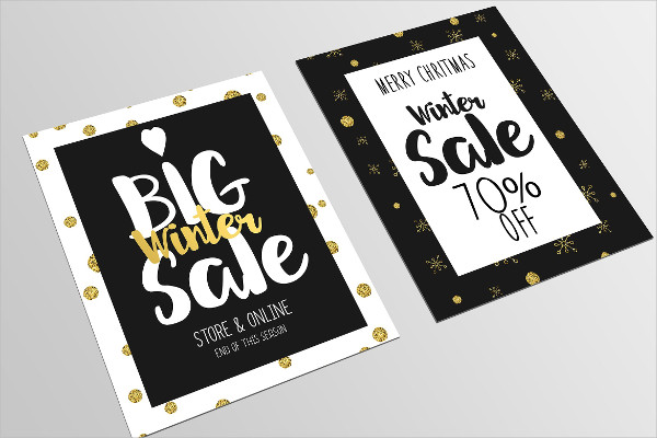 Set of Christmas Sale Flyers