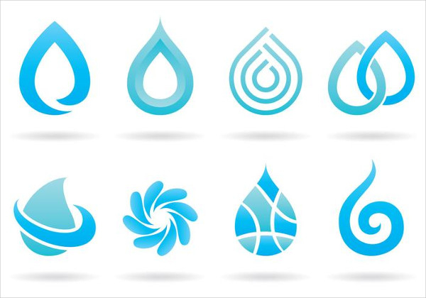 Set of Water Logos Free Download