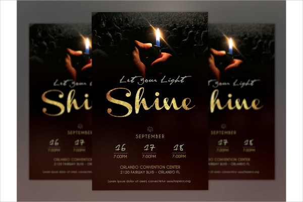 Shine Church Service Poster Template