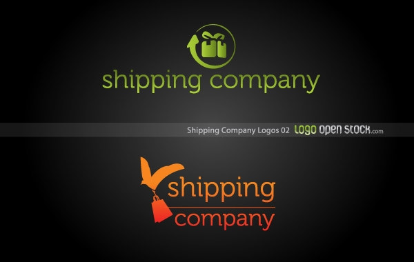 Shipping Company Logos in Green and Orange