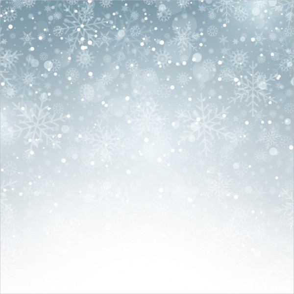 Silver Background with Snowflakes Free Vector