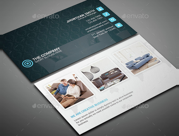 Clean Hotel Business Card Template