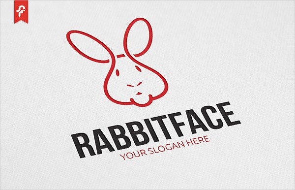 Simple Rabbit Face Logo Template