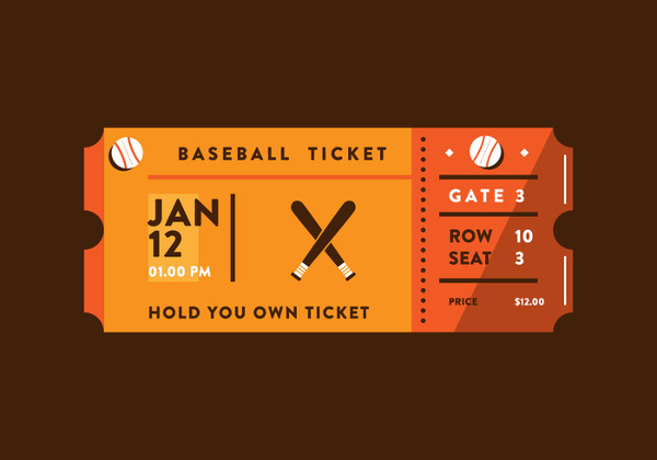 Sporting Event Ticket Free Vector