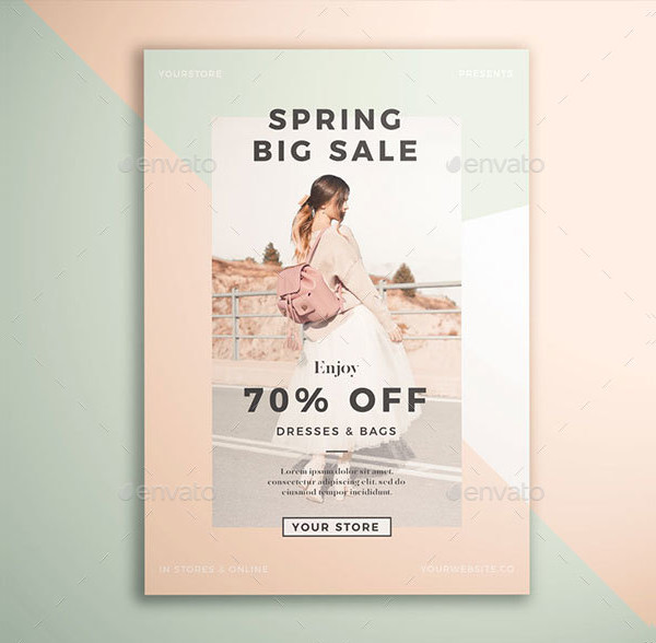 Spring Fashion Sale Flyer Template