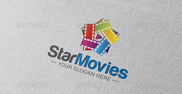 Star Movie Logo Template