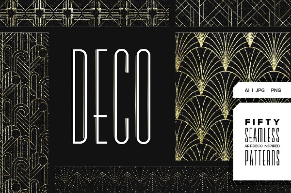 Stylish Art Deco Pattern Collection
