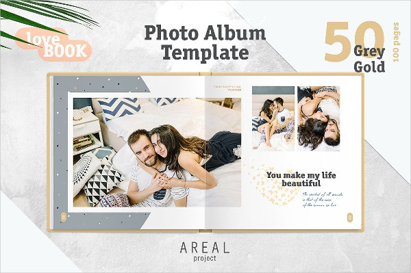 Summer Travel Family Photo Album Template