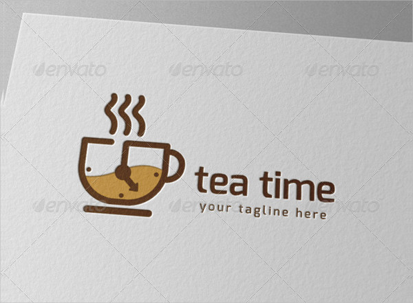 Tea Drink Time Logo Template