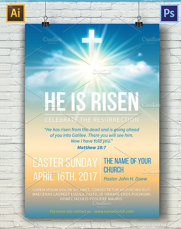 Printable Church Poster Template