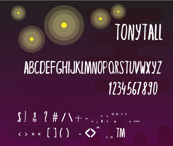 Tony Tall Crafted Doodle Font