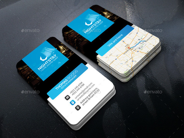 Tourist Hotel Manager Business Card Template