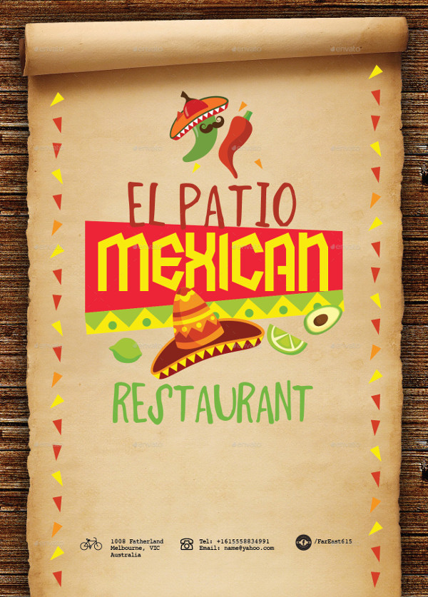 Traditional Mexican Food Menu Template