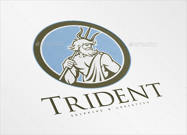 Trident Shipping and Logistics Logo Template