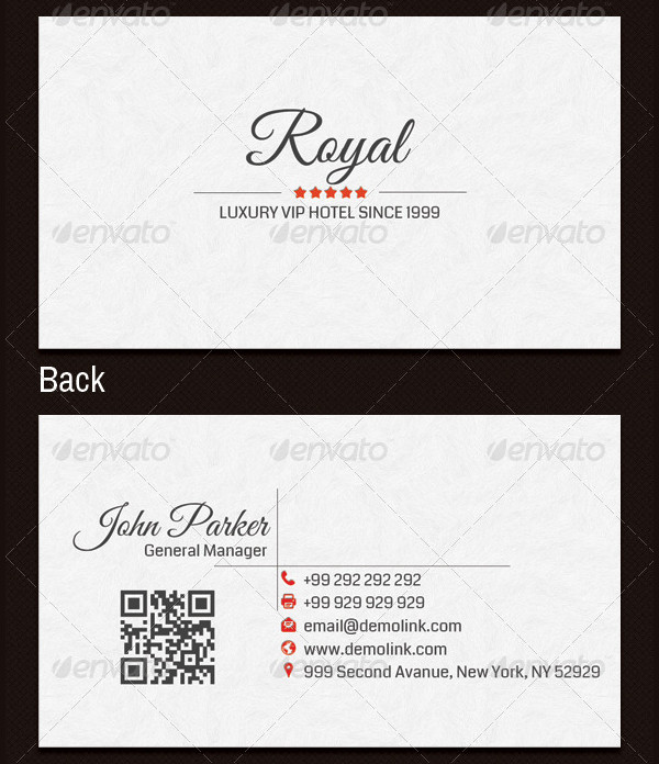 VIP Hotel Business Card Template