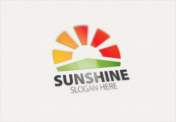 Unique Sun or Sunshine Logo Template