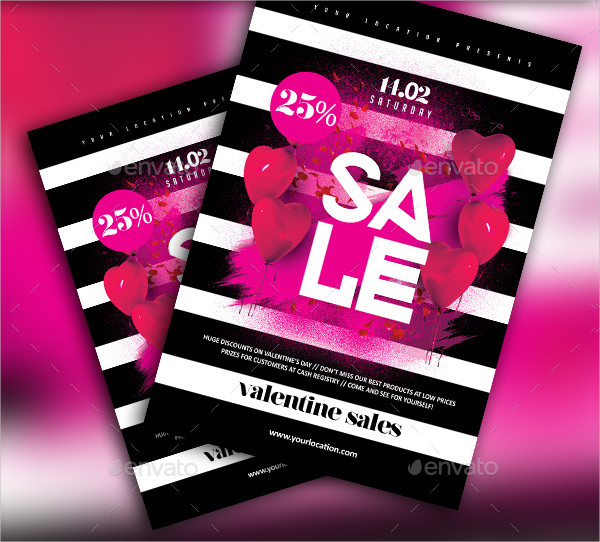 Valentine Sales Flyer Template