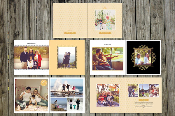 Vintage Family Album Template
