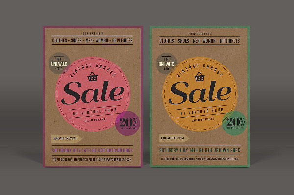 Vintage Sale Flyer Template