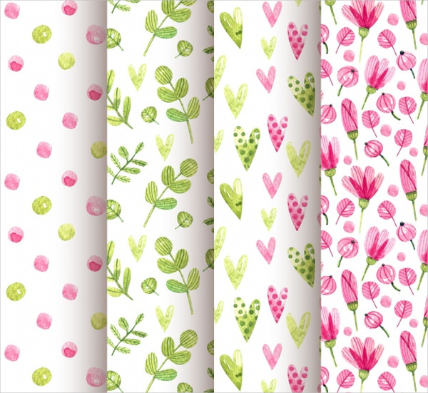 Watercolor Spring Patterns Free Download