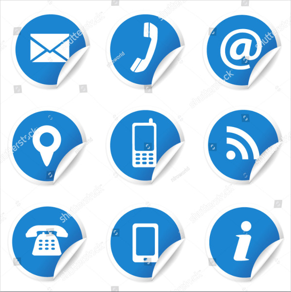 Web and Internet Contact Us Icons Set