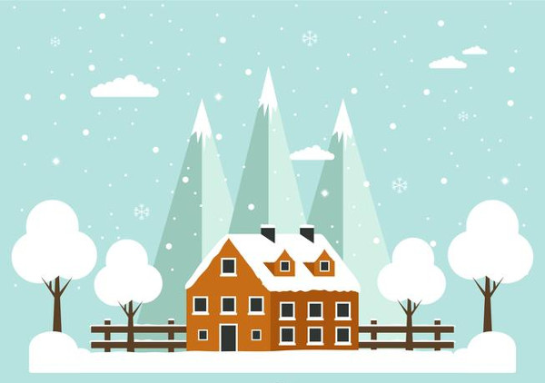 Winter Vector Background Free Download