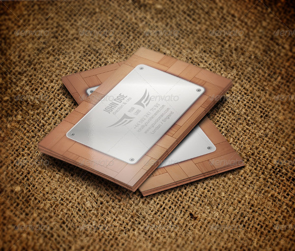 Wooden Artistic Business Card Template