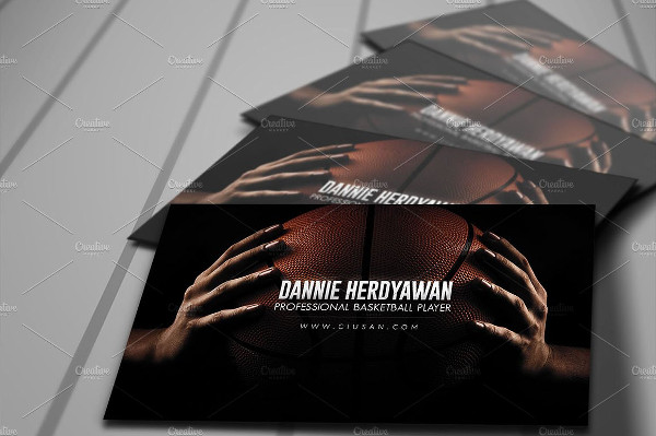 Wooden Basketball Business Card Template