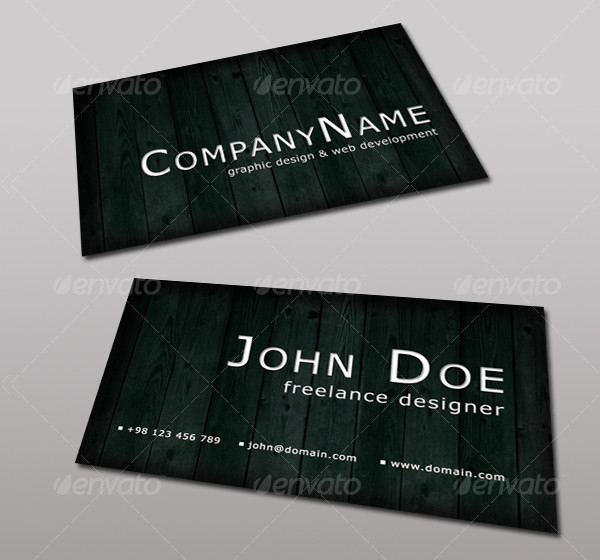 Wooden Web Developer Business Card Template