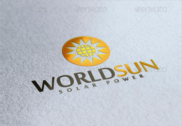 World Sun Logo Template