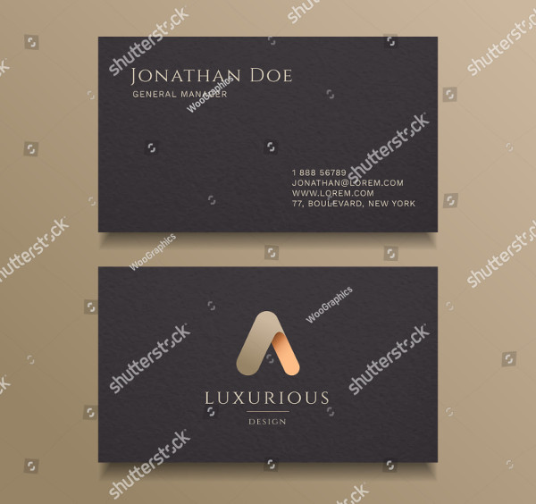 Typography Alphabet Logo Luxury Business Card Design