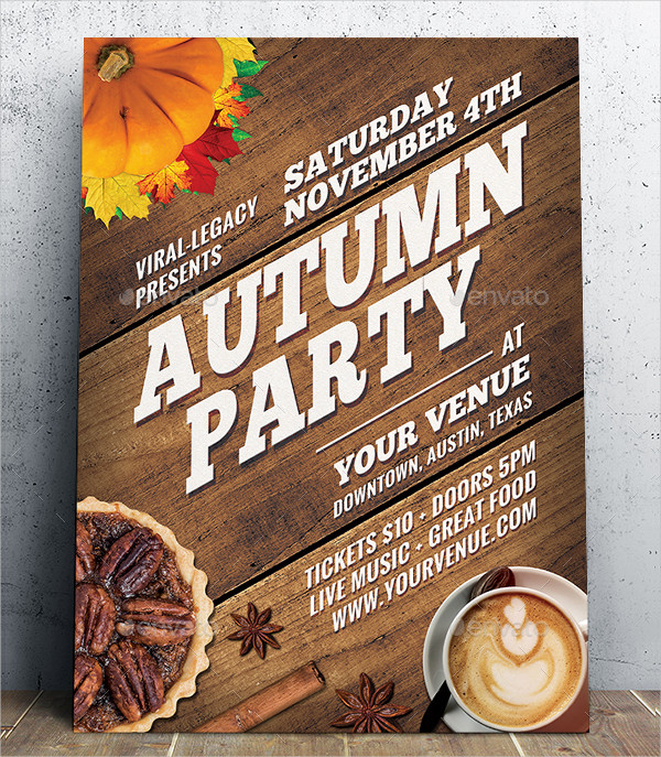 Autumn Seasonal Party Poster