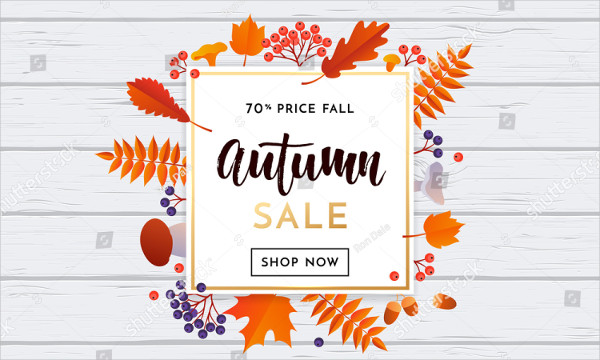 Autumn Sale Poster or Autumnal Shopping Promo