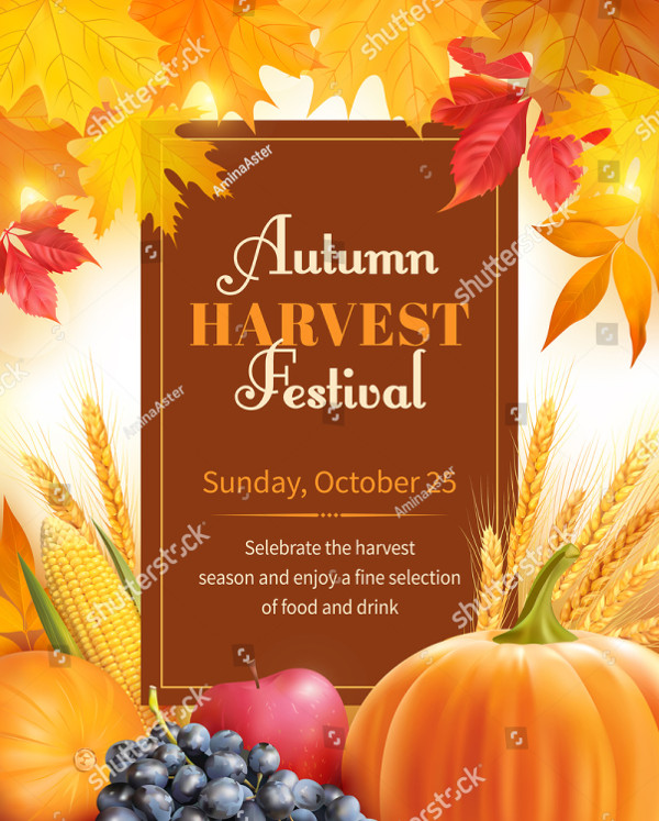 Autumn Harvest Festival Poster Design